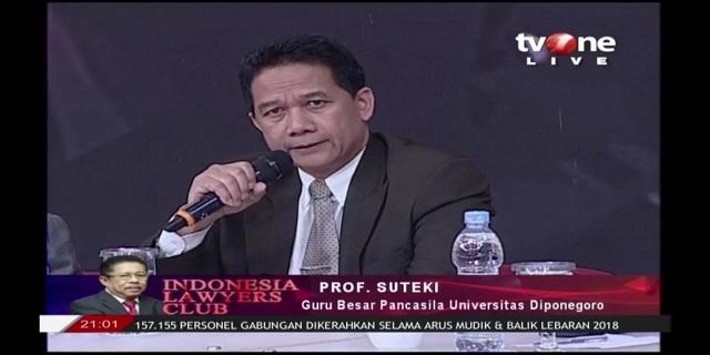 Prof. Suteki: Penalaran Hukum Putusan MA Terkait Keabsahan Hasil Pilpres 2019