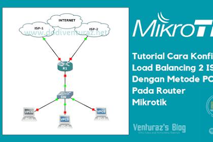 Tutorial Cara Konfigurasi Load Balancing 2 ISP Metode PCC Pada Router Mikrotik