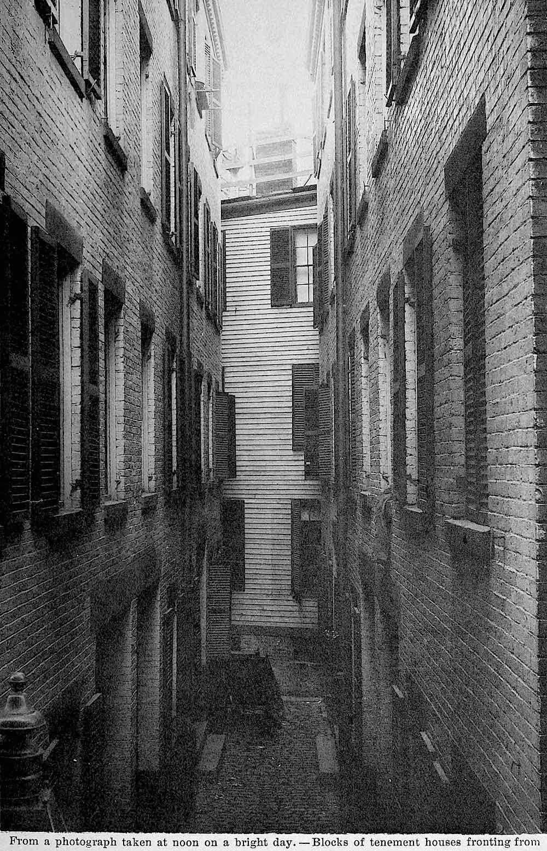 an 1889 Boston tenement photograph
