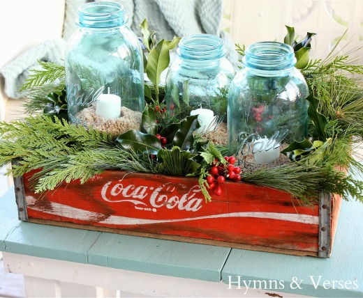 Mason Jar Chrsitmas Candles