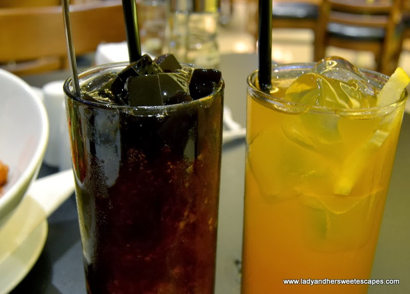 black gulaman and iced tea at Soy and Pepper Reef Mall
