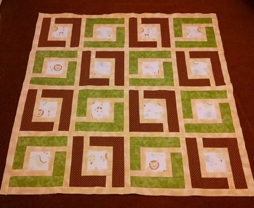 Jungle Path Baby Quilt - Tutorial