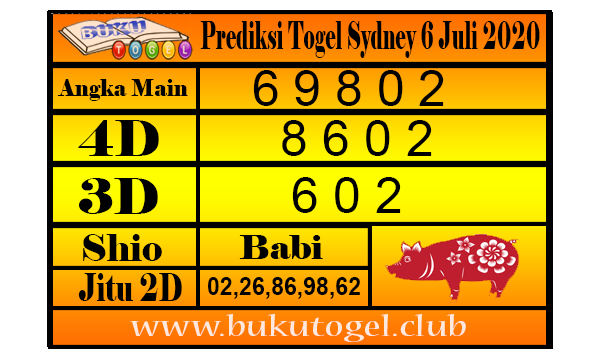 Prediksi Togel Sydney 6 Juli 2020