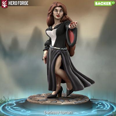 Darlessa as a human witch