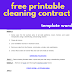 free printable cleaning contract template word