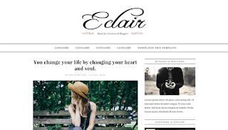 Eclair Responsive Simple Blogger Template