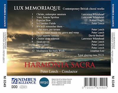 Harmonia Sacra - Lux Memoriaque - Nimbus Alliance