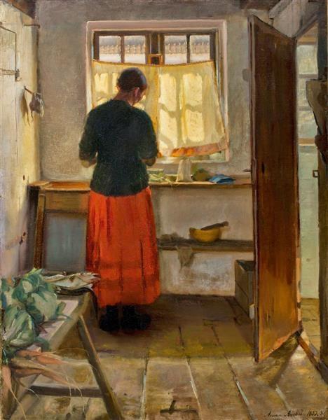 Anna Ancher - Горничная на кухне