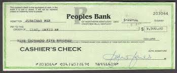 where do you get a cashiers check