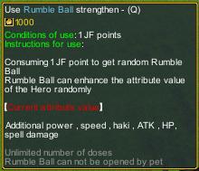 Dream One Piece Rumble Ball detail