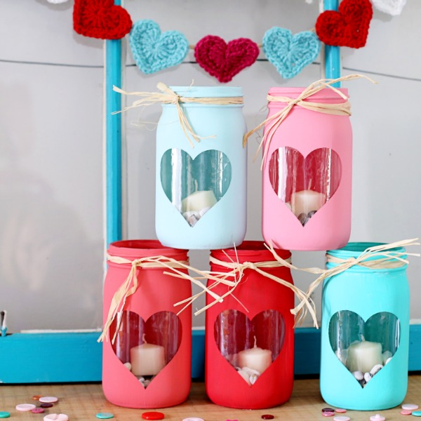 Valentine Luminaries from Sugar Bee Crafts