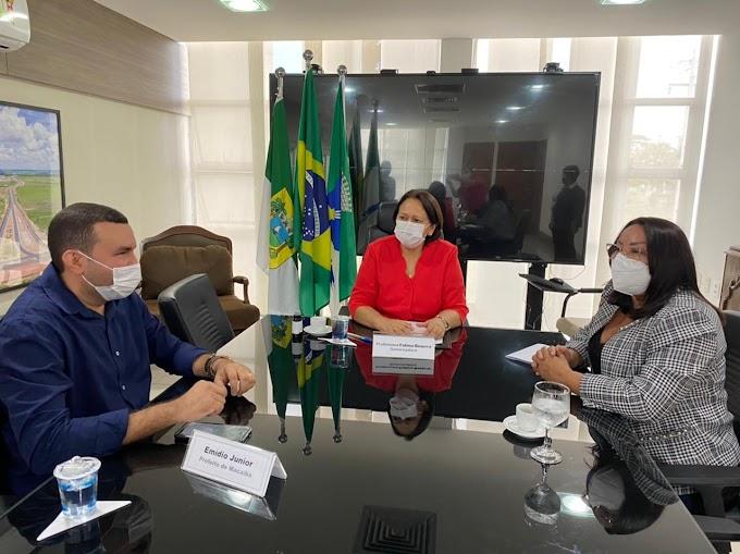 Prefeita Sandra Jaqueline participa de audiência administrativa com a governadora Fátima Bezerra