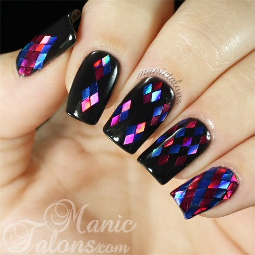 Manic Talons Nail Design: Glitter Placement With