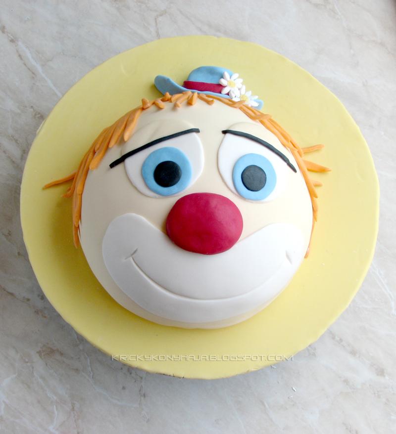 bohóc torta képek Kricky konyhája: Bohóc torta készítése bohóc torta képek
