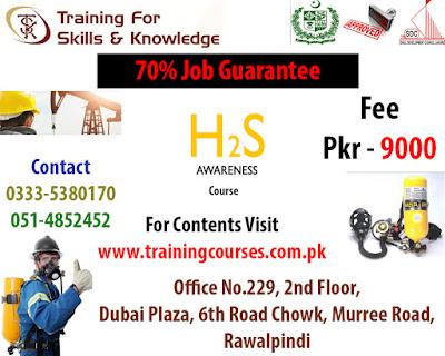 short courses rawalpindi islamabad pakistan: H2S Awareness Course