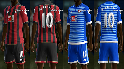 PES 2013 AFC Bournemouth 16/17 kits by vladroman