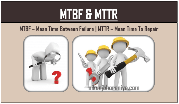 MTBF  Mean Time Between failure  MTTR  Mean Time To Repair