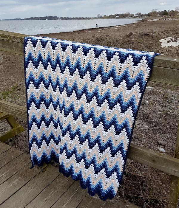 Crochet Stitches Free Patterns - Heartbeat Ripple crochet Stitch Blanket