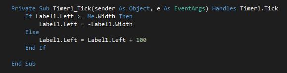 Cara Membuat Teks Berjalan (Running Text) di VB.Net