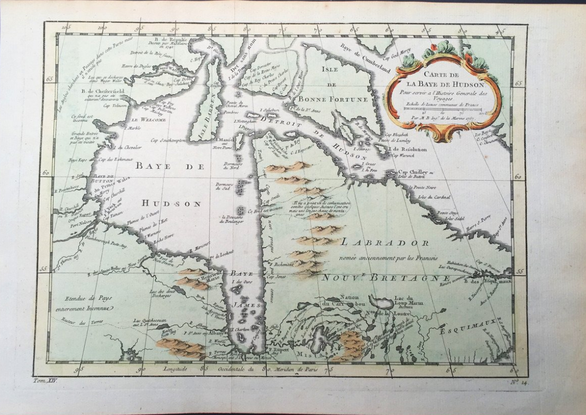 there s a lot to love about this map of hudson s bay it s an attractive example the map itself is nice to look at it has a beautiful cartouche and nice