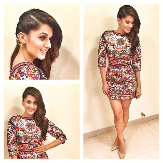 Taapsee Pannu Hollywood wave with braid