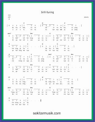 not angka sirih kuning lagu daerah jakarta