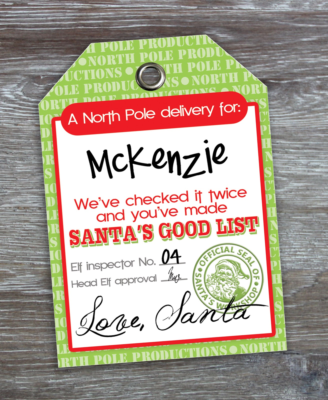 Free Printable Santa Claus Tags - The Cottage Market |Printable Christmas Tags From Santa