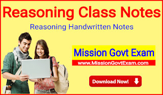 Reasoning Class Notes In hindi PDF