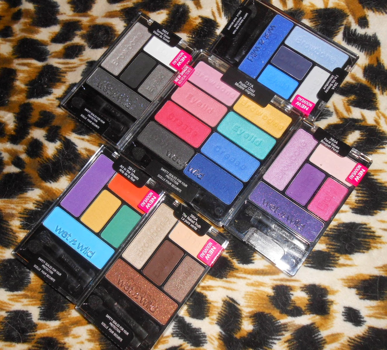 Wet n Wild eyeshadows palettes new