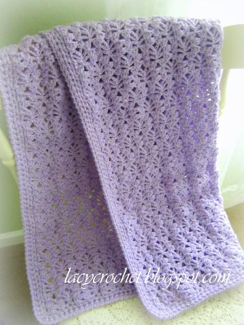 Lacy Crochet: Lacy Baby Blanket, Free Pattern