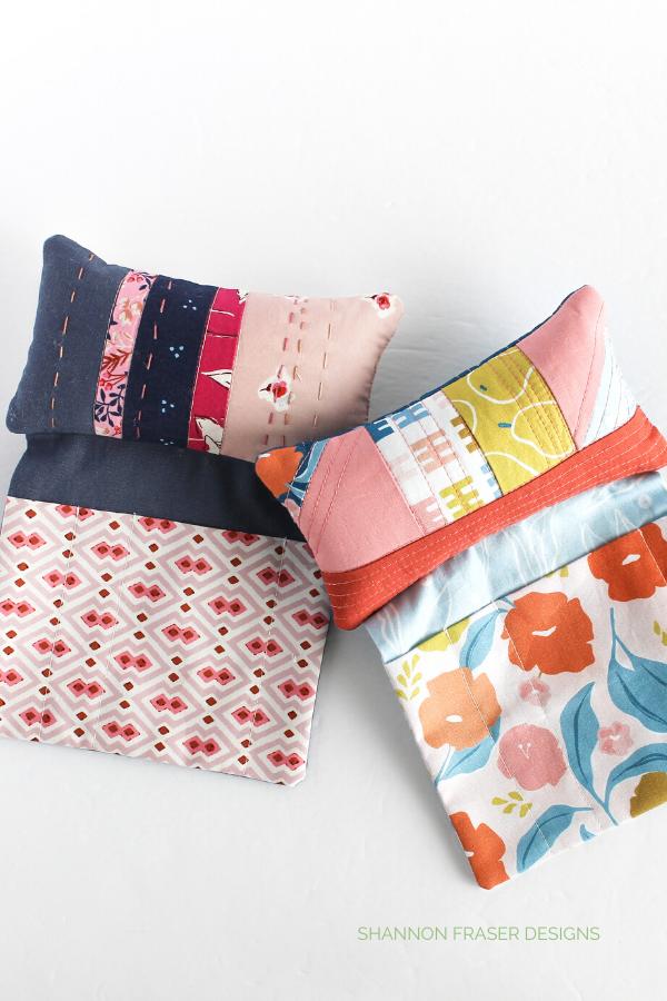 Handmade Pin Cushions   Sew Organized Pin Cushion   January Aurifil Artisan Challenge   Shannon Fraser Designs #pincushion #sewingnotions #diy