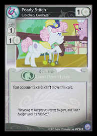 My Little Pony Pearly Stitch, Crotchety Crocheter Premiere CCG Card