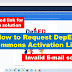 How to request Deped Commons Activation link