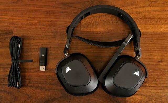 Headset Gaming Corsair HS80 RGB Wireless