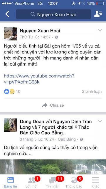 Cần tố cáo giáo viên Nguyễn Xuân Hoài tiếp tay phản động chống chính quyền