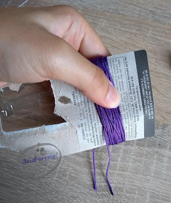 jak zrobić chwost ze sznurka