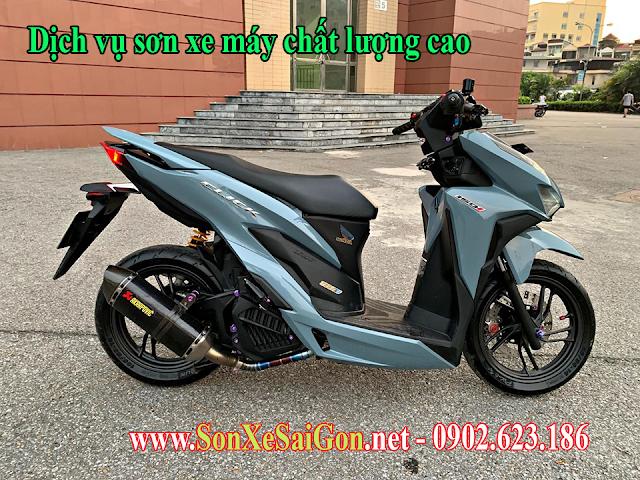 Sơn xe máy Honda Vario 150 màu xám xanh xi măng