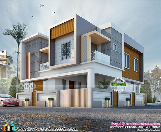 Box type 4 BHK contemporary house plan