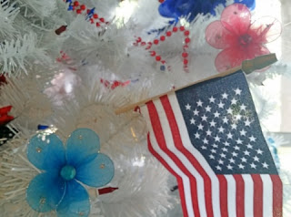 americana flag close up