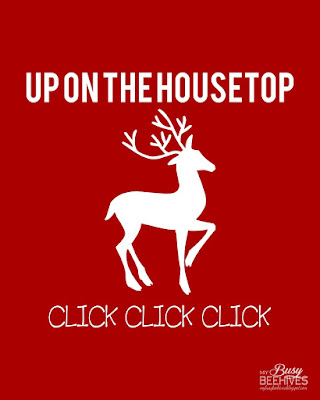Up on the Housetop printable