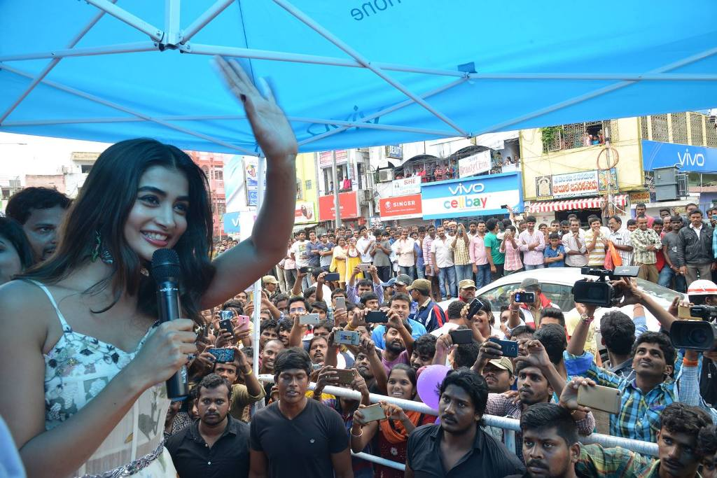 Pooja Hegde at LOT Mobile Store Inauguration At Vijayawada
