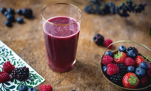 Method of action of Berry and cherry juice