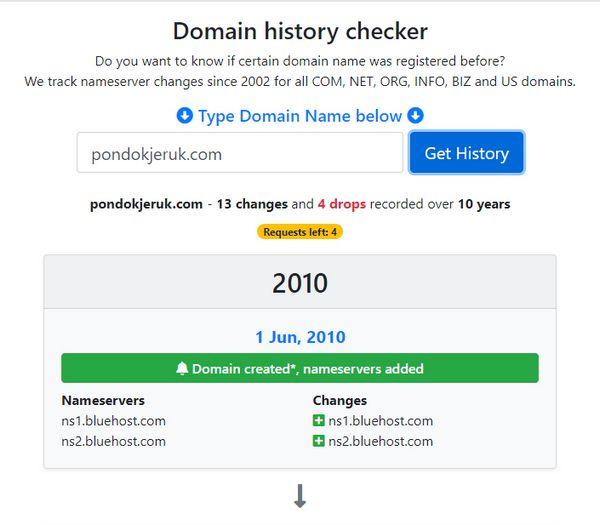 History Domain pondokjeruk.com - 1
