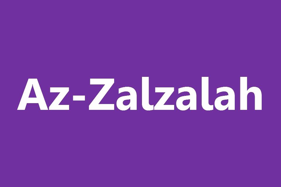 Surat Az Zalzalah Arab Latin Dan Terjemahannya Juz 30 Full