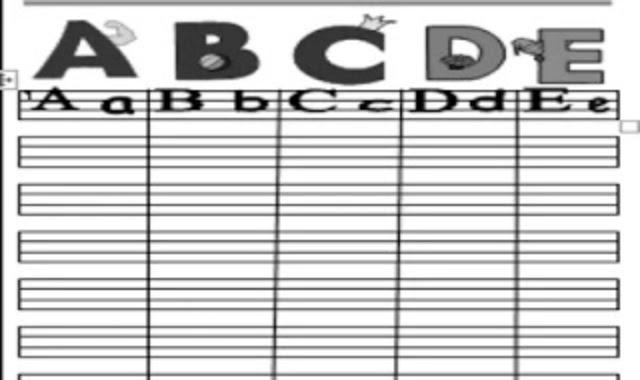 مذكرة تعليم الاطفال الحروف الانجليزية والارقام وورد  من موقع درس انجليزي مذكرة انجليزي كى جى