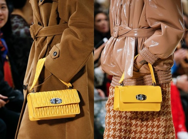 Fall-Winter 2018-2019 Women's Yellow Handbags Fashion Trends
