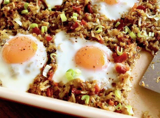 Bacon Hash Brown Casserole with Eggs | Photo Courtesy of Cooking on the Weekends