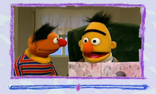 Ernie says Surprise. Bert looks surprised and he has surprised eyebrows. Elmo's World Eyes Video E-Mail