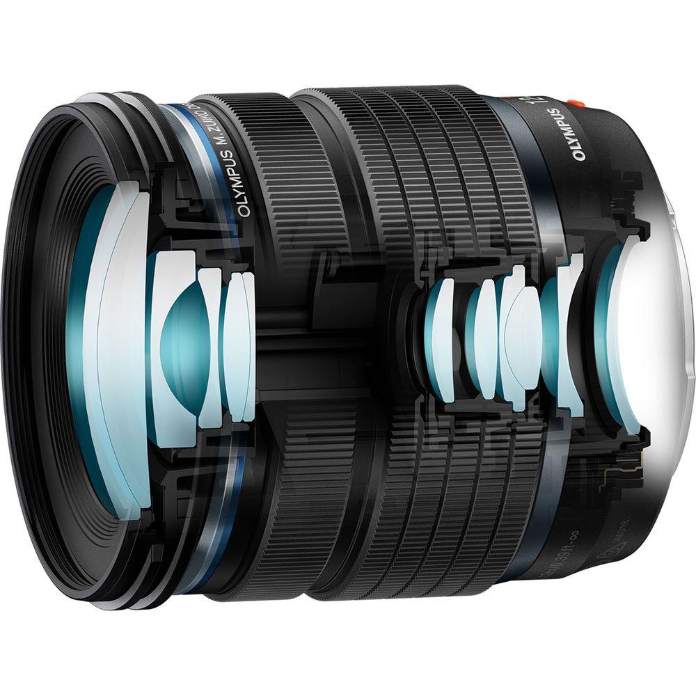 Оптическая схема объектива Olympus M.Zuiko 12-45mm f/4 Pro