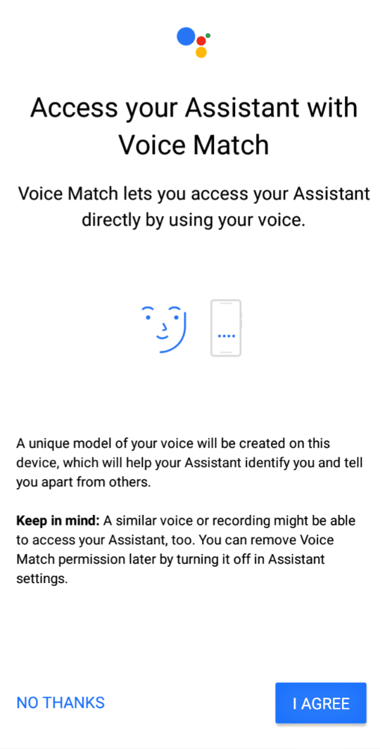 Activate Google Assistant